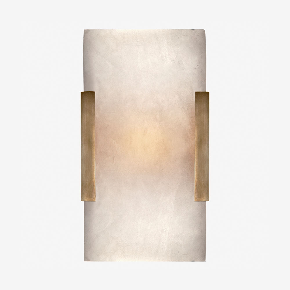 COVET WIDE CLIP BATH SCONCE - BRASS