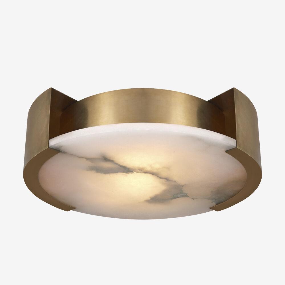 MELANGE LARGE FLUSH MOUNT LAMP - BRASS