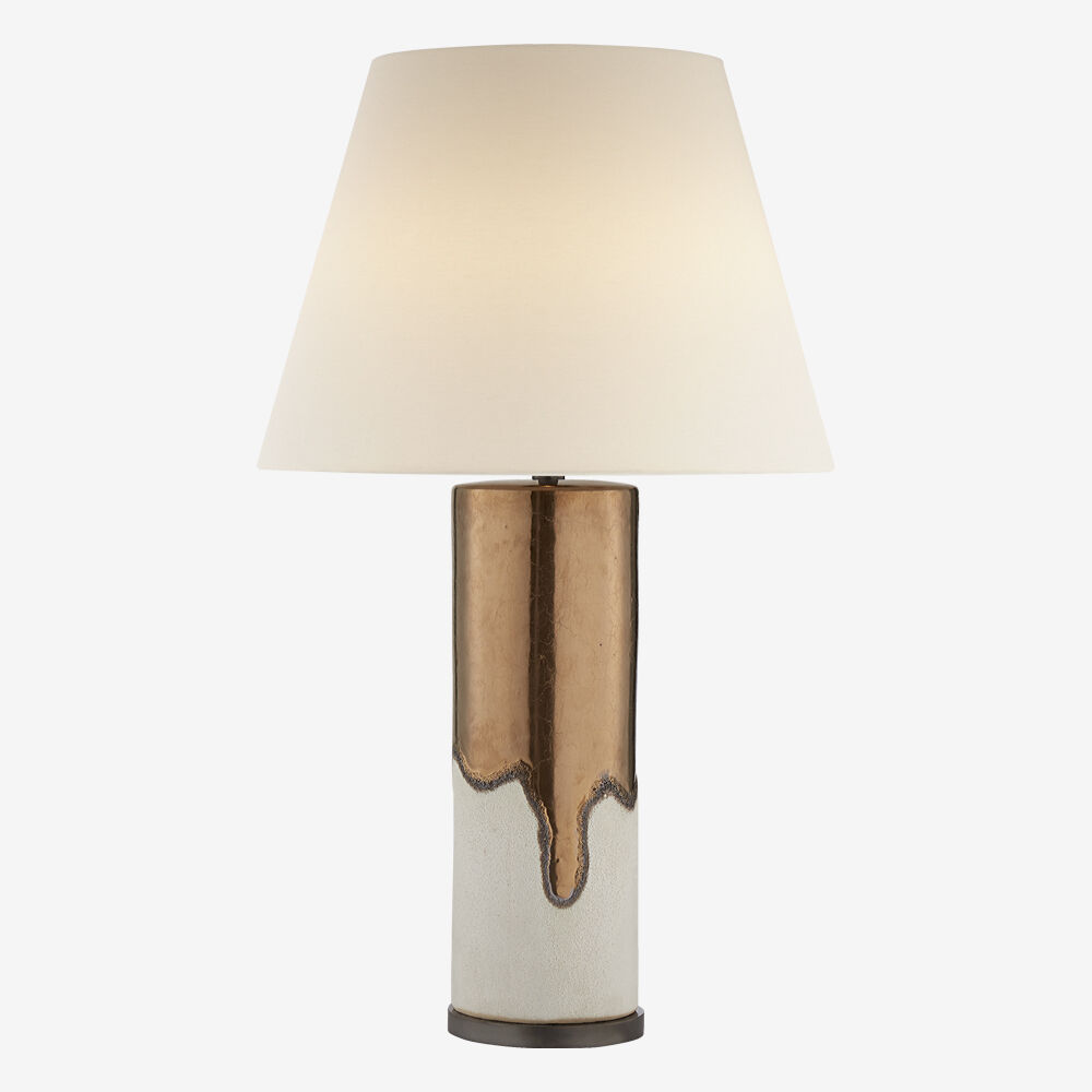 MARMONT TABLE LAMP - BURNT GOLD & WHITE