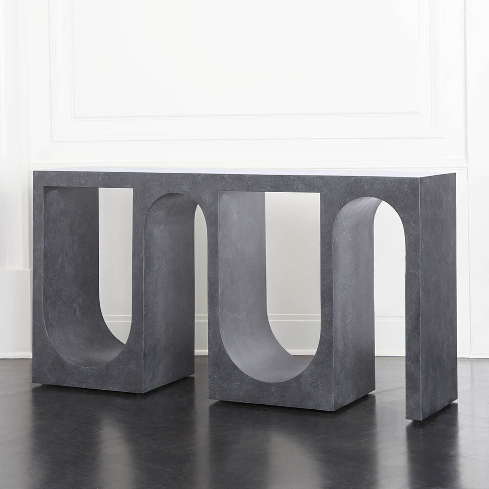ROXBURY CONSOLE - DARK GREY