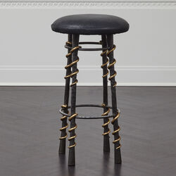SERPENT BAR STOOL - BUBBLY BLACK
