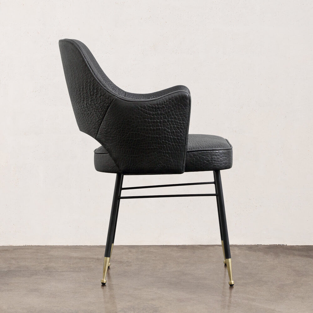 RIGBY CHAIR - NZ BUBBLY BLK