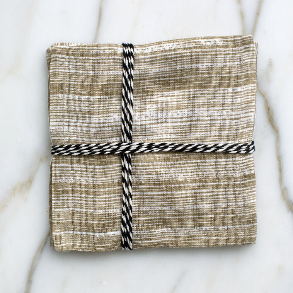 STRIATED COCKTAIL NAPKINS