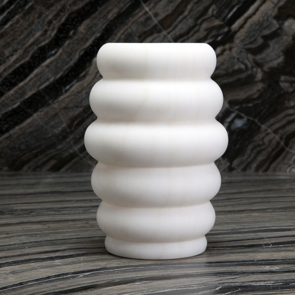 ORGANIC MARBLE VASE SMALL - WHITE