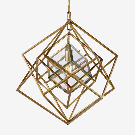 CUBIST SMALL CHANDELIER - GILD