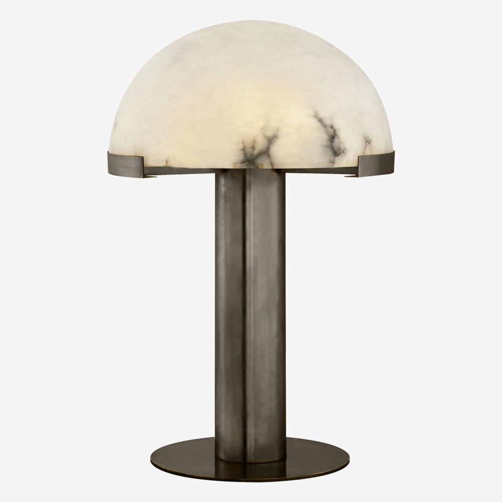 MELANGE TABLE LAMP - BRONZE w/ ALABASTER
