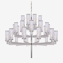 LIAISON TRIPLE TIER CHANDELIER - POLISHED NICKLE