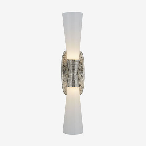 UTOPIA LARGE DOUBLE BATH SCONCE - POLISHED NICKLE