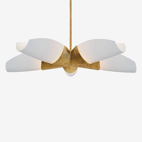 UTOPIA MEDIUM 5 ARM CHANDELIER - GILD