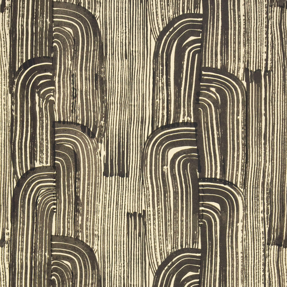 CRESCENT WALLPAPER - EBONY CREAM