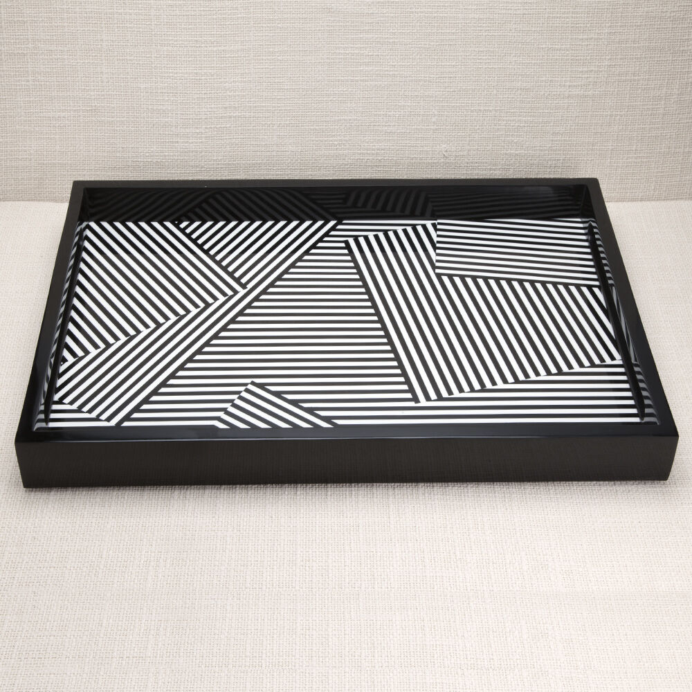 FRACTURED TRAY - BLACK/WHITE