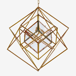 CUBIST MEDIUM CHANDELIER - GILD