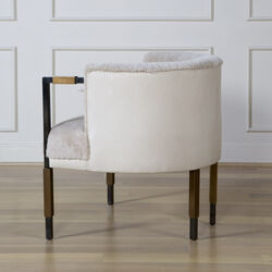 LARCHMONT CHAIR - DARK PEWTER w/ BEIGE SHEARLING