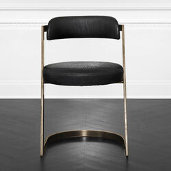 STUDIO DINING CHAIR - BURN BRASS w/ BUBBLY BLACK