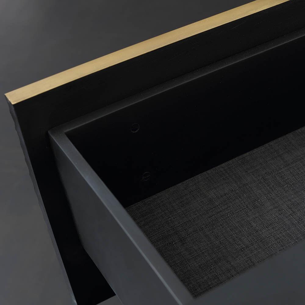 GALLANT NIGHT STAND - BLACKENED STEEL
