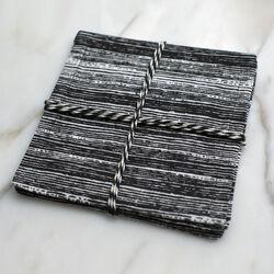 STRIATED COCKTAIL NAPKINS - BLACK