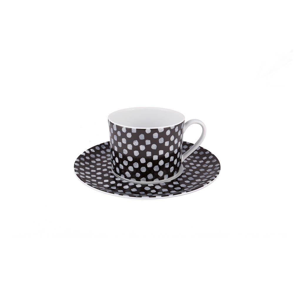DOTS TEA CUP AND SAUCER SET