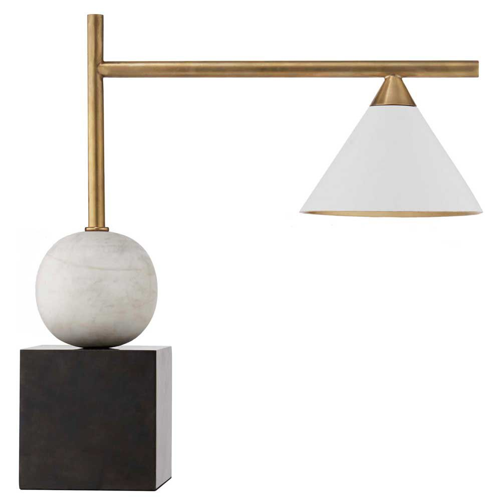Cleo desk lamp by kelly wearstler cleo desk lamp bronze and antique burnished brass with antique white shade geotapseo Images