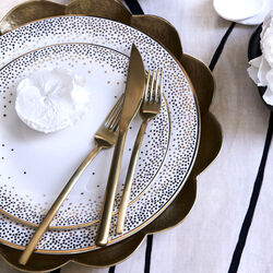LINEA ICE ORO - FLATWARE - GOLD