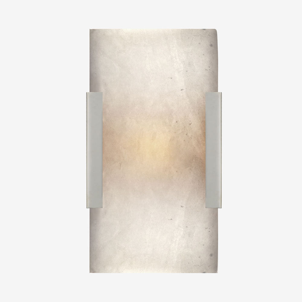 COVET WIDE CLIP BATH SCONCE - POLISHED NICKLE