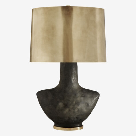 ARMATO TABLE LAMP - STAINED BLACK w/ BRASS