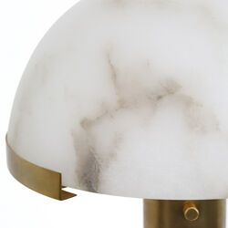MELANGE TABLE LAMP - BRASS w/ ALABASTER