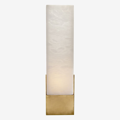 COVET TALL BOX SCONCE - BRASS