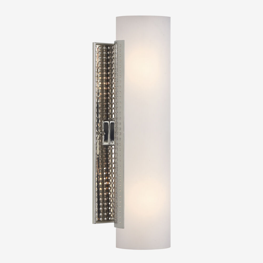 PRECISION TUBE SCONCE - POLISHED NICKLE