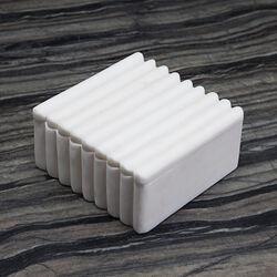 LAUREL RIBBED BOX SQUARE - WHITE