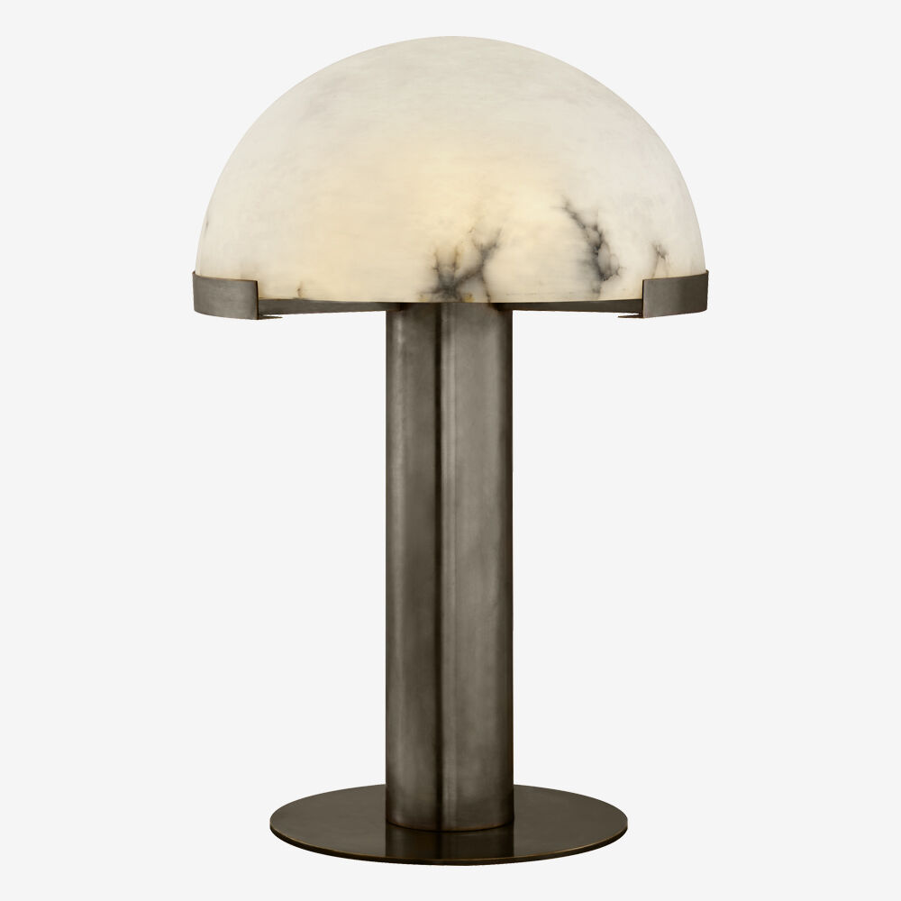 MELANGE TABLE LAMP - BRONZE w/ ALABASTER
