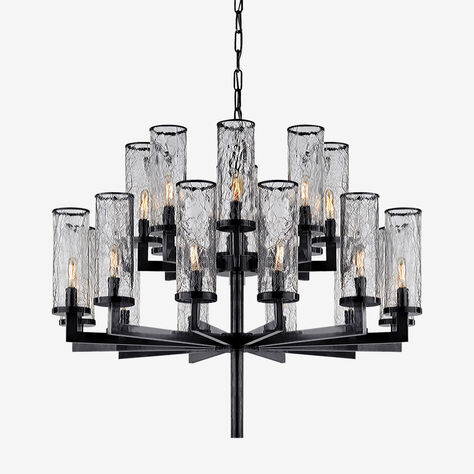 LIAISON TWO-TIER CHANDELIER - BRONZE