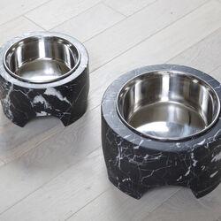 GRACIE SMALL DOG BOWL - NEGRO