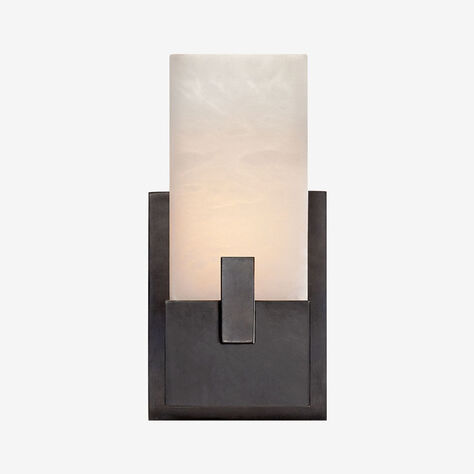 COVET SHORT CLIP SCONCE - BRONZE