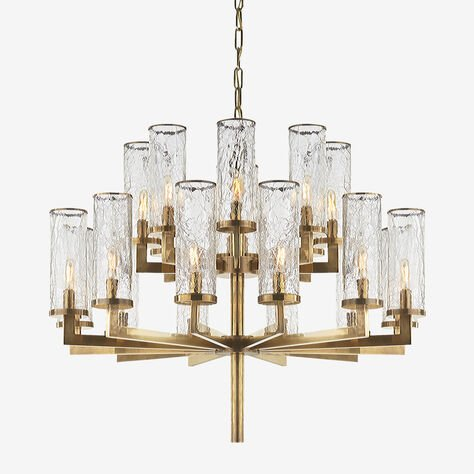 LIAISON TWO-TIER CHANDELIER - BRASS
