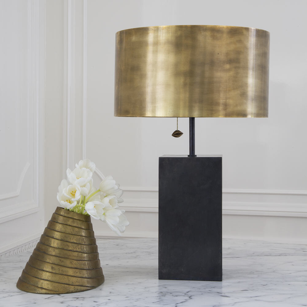 ZUMA TABLE LAMP - BRONZE w/ BRASS