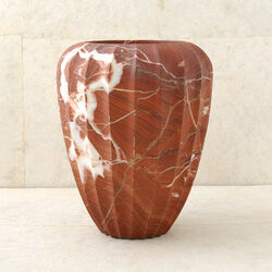 FLUTED MARBLE VASE - LARGE