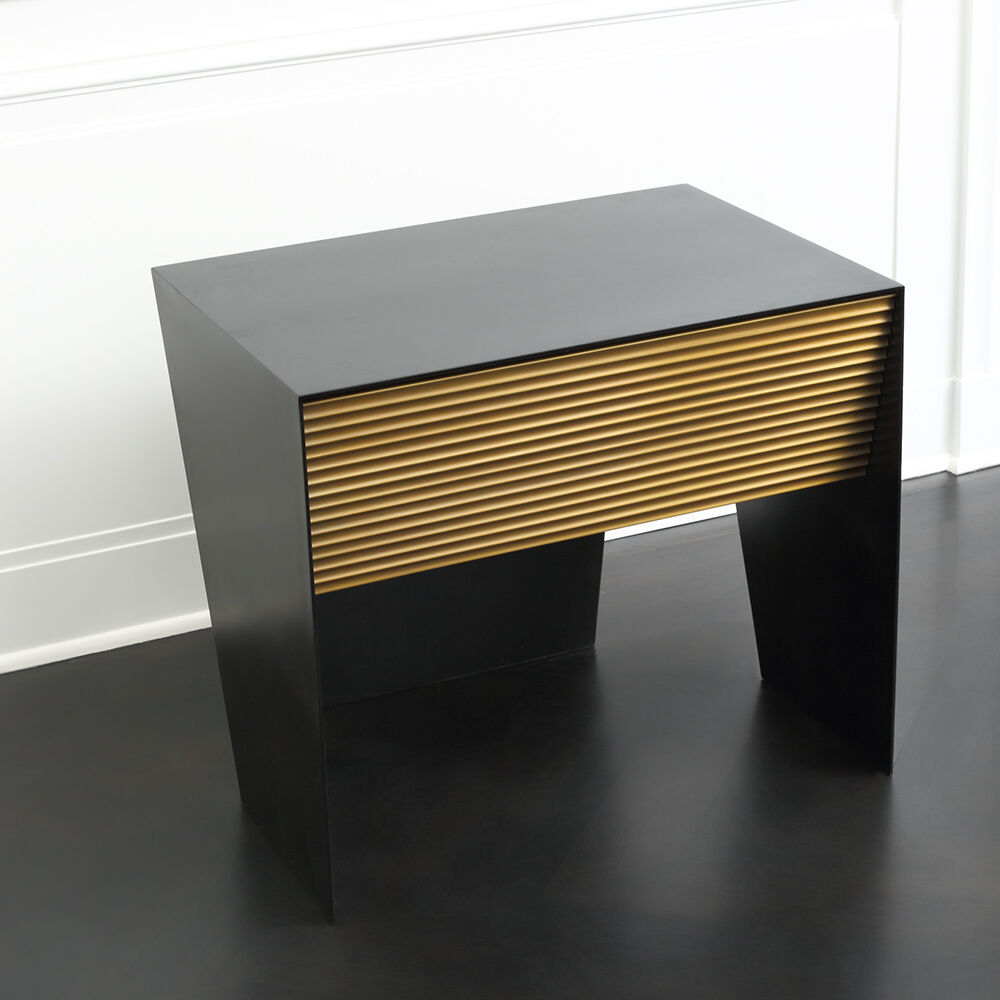 GALLANT NIGHT STAND - BLACKENED STEEL