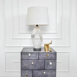 PALISADES DIAMOND TABLE LAMP - ALABASTER