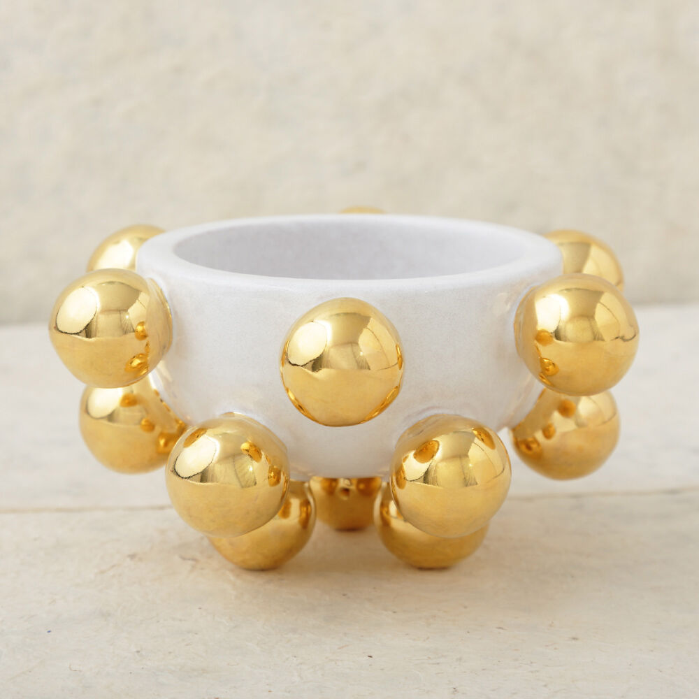 MINI POP BOWL - WHITE AND GOLD