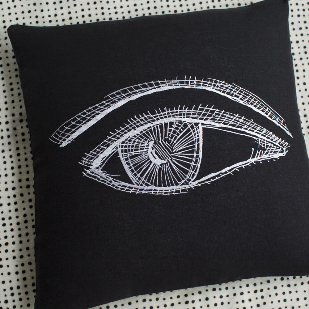 COVETEUR PILLOW - BLACK WHITE