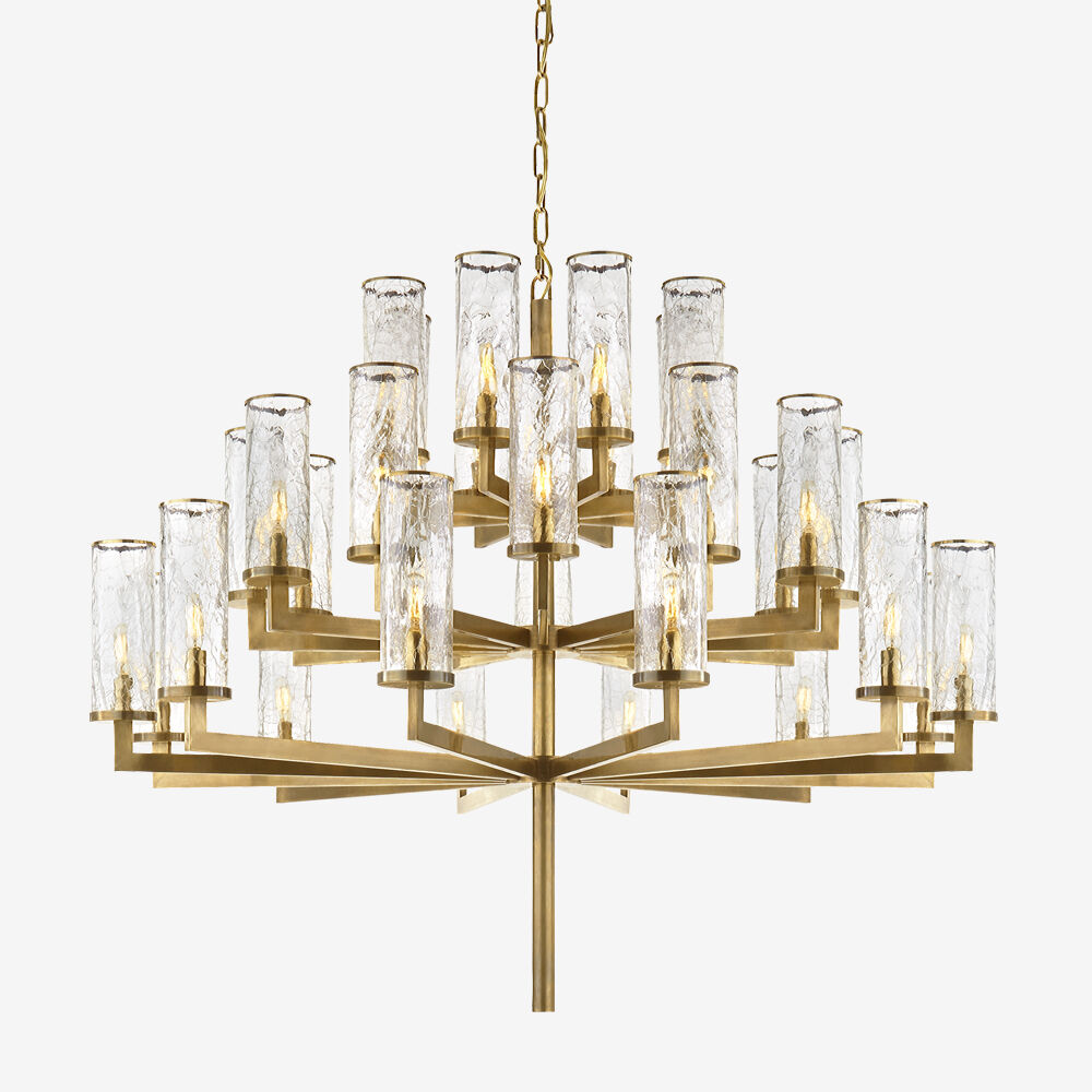 LIAISON TRIPLE TIER CHANDELIER - BRASS