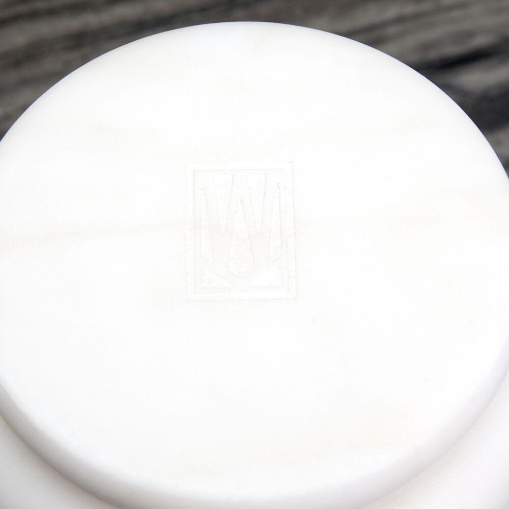 ORGANIC MARBLE VASE LARGE - WHITE
