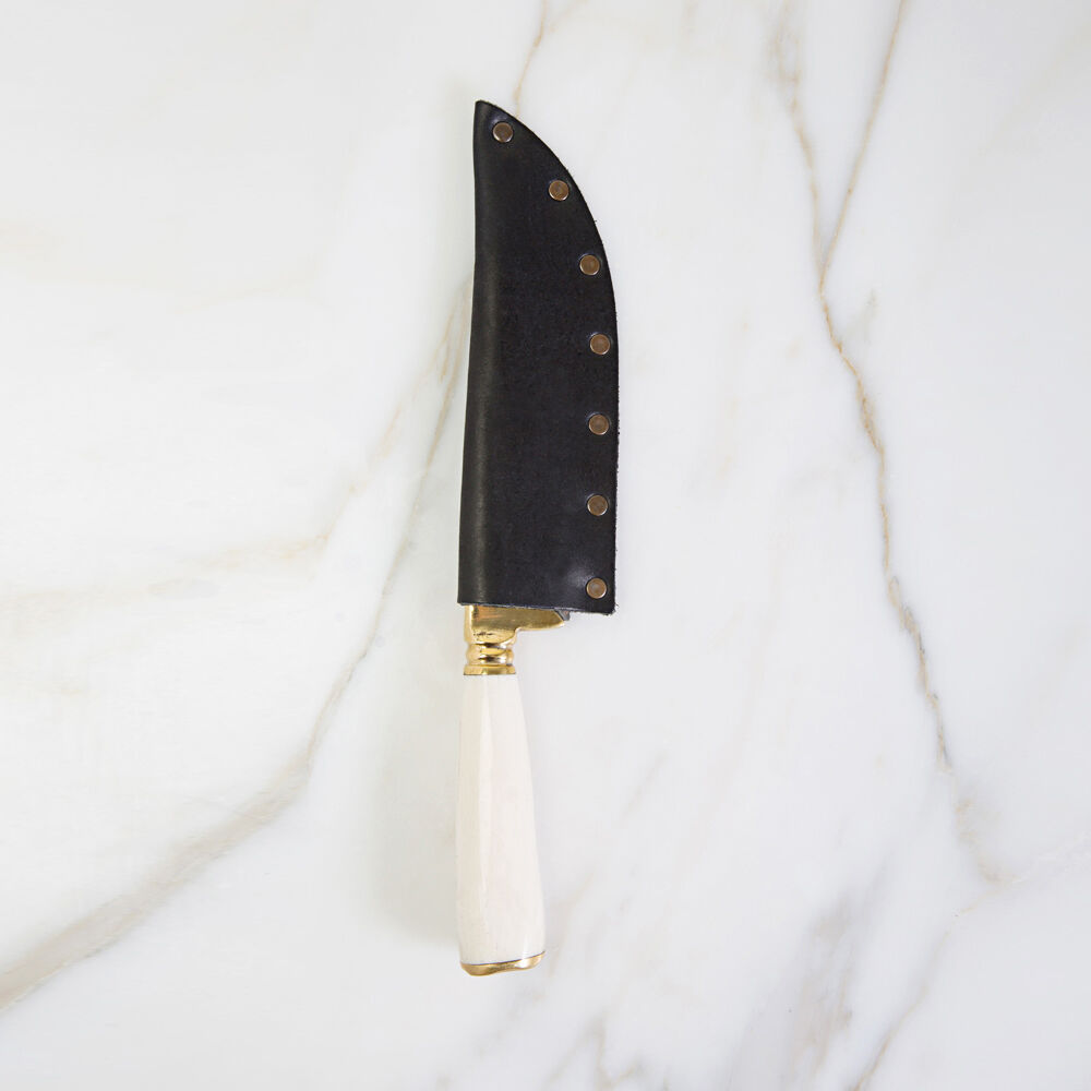 POGLIA HANDCRAFTED KNIFE - HORN