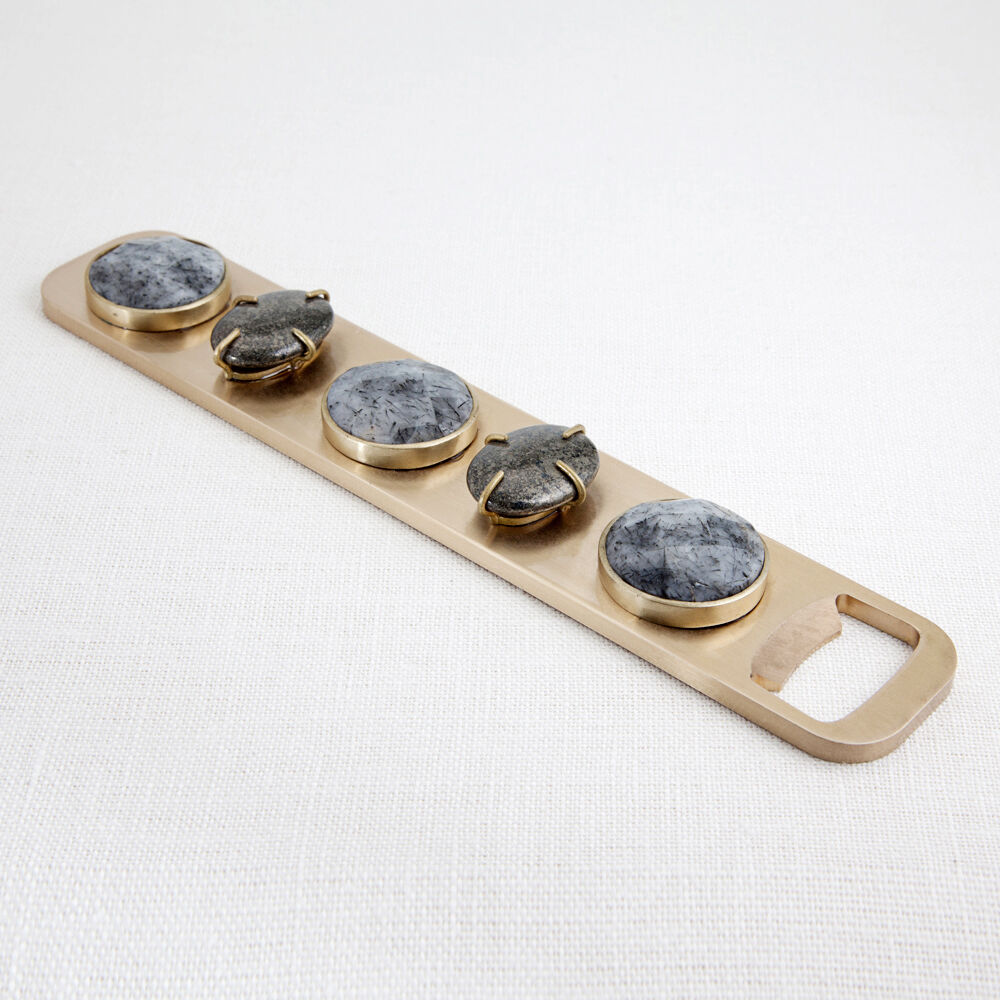 BEJEWELED BOTTLE OPENER - PYRITE