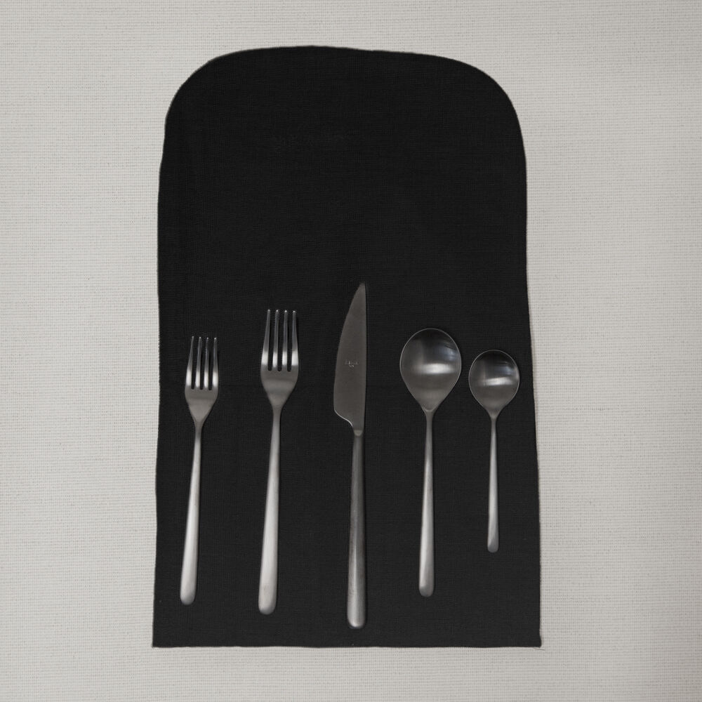 LINEA ICE ORO - FLATWARE -  NERO BLACK