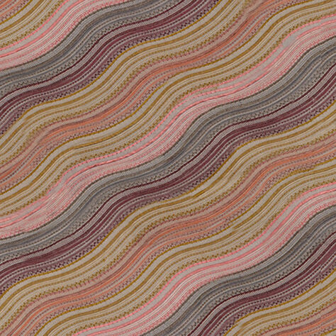 WATER STRIPE FABRIC - RAISIN ROSE