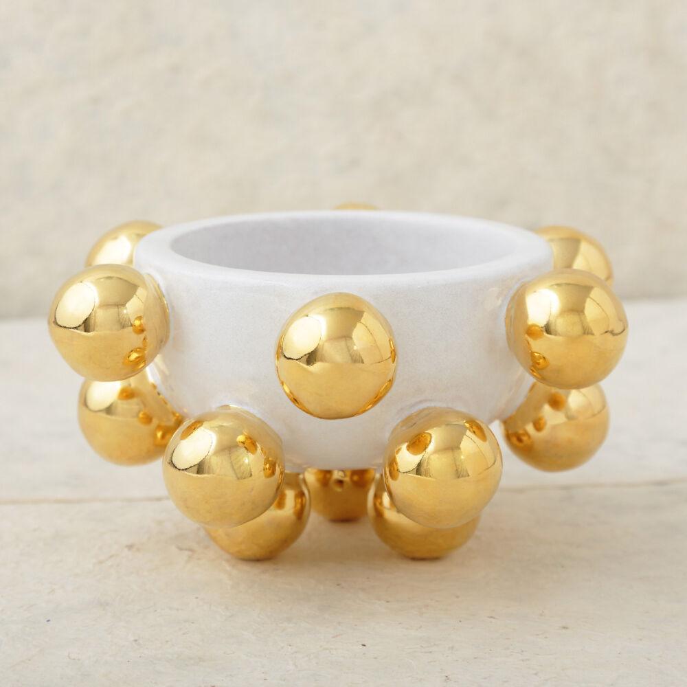 MINI POP BOWL - WHITE AND GOLD