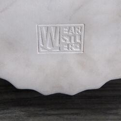 FLUTED LARGE VASE - WHITE