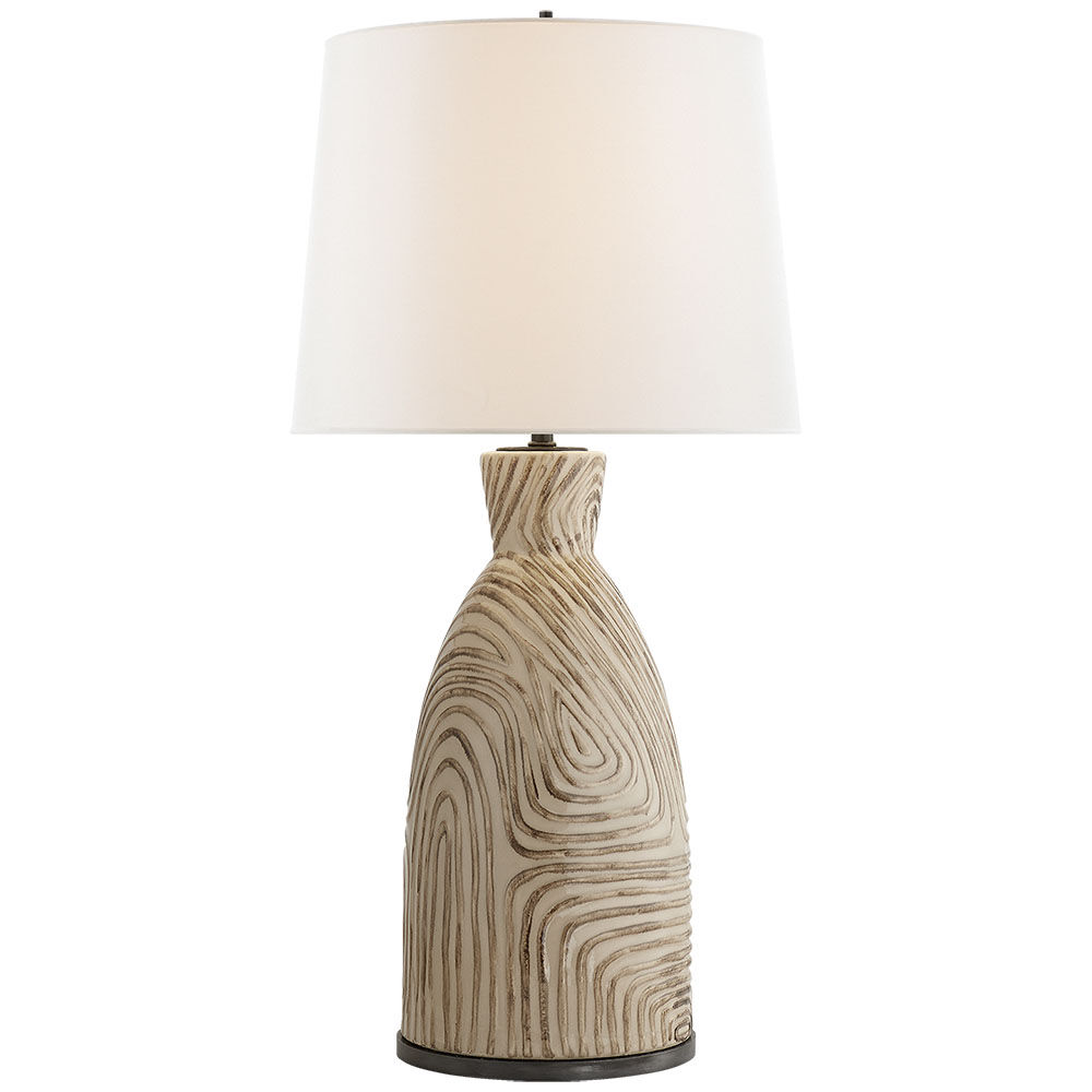 Effie Table Lamp Sand Blue Stripe