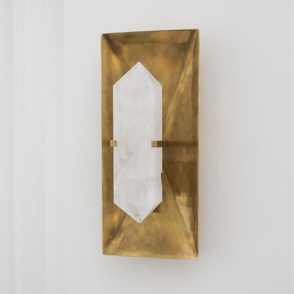HALCYON RECTANGLE SCONCE - BRASS